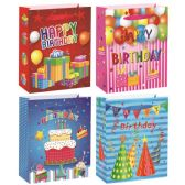 72 Units of Birthday Bag Medium - Gift Bags Assorted