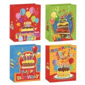 72 Units of Birthday Glitter - Gift Bags Assorted