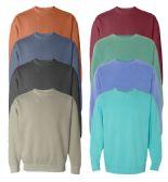 24 Units of Unisex Comfort Colors Irregular Crew neck Sweatshirt, Size Small - Mens Sweat Shirt