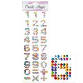 144 Units of Rhinestone Sticker Numbers - Stickers