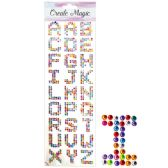 144 Units of Rhinestone Sticker Letters - Stickers