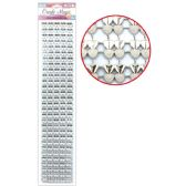 144 Units of Rhinestone Strass Silver - Stickers