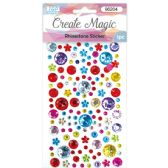 144 Units of Rhinestone Stickers Assorted - Stickers