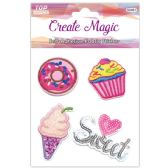 96 Units of Fabric Stickers Assorted - Stickers