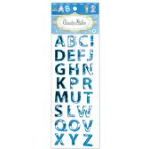 144 Units of Shiny Stickers Letters Dark Blue - Stickers