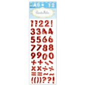 144 Units of Shiny Stickers Numbers Red - Stickers