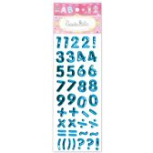 144 Units of Shiny Stickers Numbers Dark Blue - Stickers