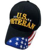 24 Units of US VETERAN** Ball Cap [Flag Bill] - Baseball Caps & Snap Backs