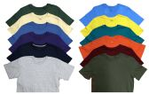 12 Units of SOCKS'NBULK Mens Cotton Crew Neck Short Sleeve T-Shirts Mix Colors Bulk Pack Value Deal (12 Pack Mix, Large) - Mens T-Shirts