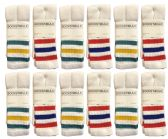 12 Units of Yacht & Smith Women's Cotton Striped Tube Socks, Referee Style size 9-11 - Women's Tube Sock