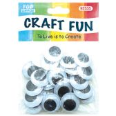 96 Units of Thirty Count Wiggly Eyes - Craft Beads
