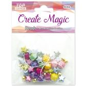 96 Units of Beads Assorted With White Elastic - Craft Beads