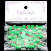 96 Units of Acrylic Rhinestone Bow Green - Craft Beads