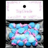 96 Units of Acrylic Rhinestone Strawberry Blue - Craft Beads