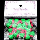 96 Units of Acrylic Rhinestone Strawberry Green - Craft Beads