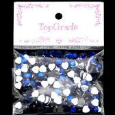 96 Units of Rhinestone Sticker Blue - Craft Beads