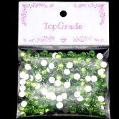 96 Units of Rhinestone Circle Sticker Green - Craft Beads