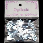 96 Units of Acrylic Rhinestone Blue - Craft Beads