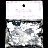 96 Units of Acrylic Rhinestone Silver Baby Feet - Craft Beads