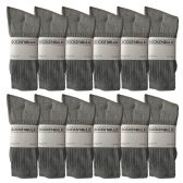 12 Units of Yacht & Smith Mens Wholesale Bulk Sports Crew, Athletic Case Pack Socks, by SOCKS'NBULK (12 Pairs Gray, Mens 10-13 (Shoe Size 7-12)) - Mens Crew Socks