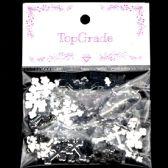 96 Units of Acrylic Rhinestone Cross Silver - Craft Beads