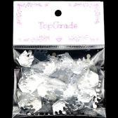 96 Units of Acrylic Rhinestone Crown Silver - Craft Beads