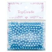96 Units of Acrylic Pearl Bead Blue - Craft Beads