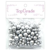 96 Units of Beads Silver - Craft Beads