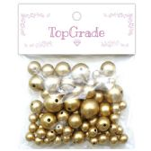 96 Units of Beads Gold - Craft Beads