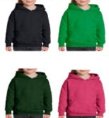 24 Units of Youth Gildan Irregular Assorted Color Hooded Pullover, Size Medium - Boys Sweaters