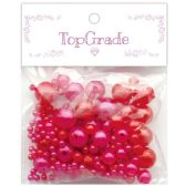 96 Units of Two Hundred Piece Pearl In Hot Pink - Craft Beads