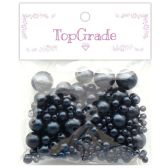 96 Units of Two Hundred Piece Pearl In Grey - Craft Beads