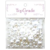 96 Units of Two Hundred Piece Pearl In White - Craft Beads