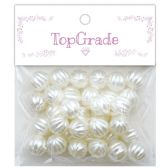 96 Units of Pearl Bead In White - Craft Beads