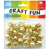 96 Units of Bell Bead Gold - Craft Beads