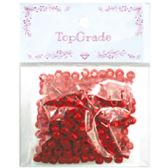 96 Units of Acrylic Bead Red - Craft Beads