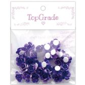 96 Units of Craft Rose Sticker In Purple - Craft Beads