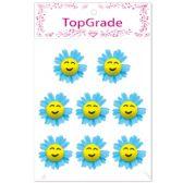 96 Units of Foam Flower In Blue - Stickers