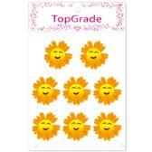 96 Units of Foam Flower In Orange - Stickers