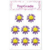 96 Units of Foam Flower In Purple - Stickers