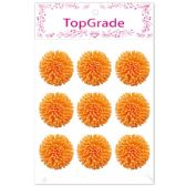 96 Units of Foam Flower In Orange - Arts & Crafts