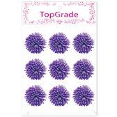 96 Units of Foam Flower In Purple - Arts & Crafts