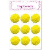96 Units of Foam Flower In Yellow - Arts & Crafts