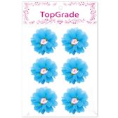 96 Units of Satin Flower Blue - Arts & Crafts