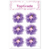 96 Units of Satin Flower Purple - Arts & Crafts