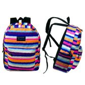 "24 Units of 17"" Classic Multi-Colored Girls Backpack - Backpacks 17"""