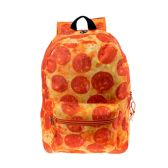 "24 Units of 17"" Kids Classic Padded Backpacks in PIZZA Print - Backpacks 17"""