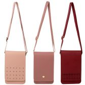 24 Units of Wholesale Women's Crossbody Mobile Phone Bag in 3 Assorted Styles - Shoulder Bags & Messenger Bags