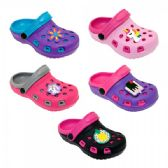 60 Units of Girl's Clogs With Assorted Colors Styles - Girls Slippers