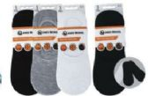 72 Units of Mens No Show Loafer Socks Size 10-13 Assorted Prints, Priced Per Pair - Mens Ankle Sock
